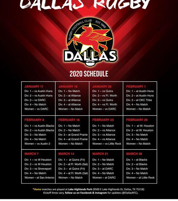 2019-2020 Match Schedule